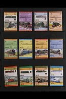 RAILWAYS  1980's Leaders Of The World All Different Never Hinged Mint Collection From Various British Commonwealth Count - Stamps