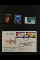 RAILWAYS ON STAMPS - ASIAN COUNTRIES  A Magnificent Two Volume Thematic Collection Containing Mint And Used Stamps (with - Stamps