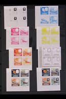 ROWLAND HILL  Cook Islands 1979 Death Centenary 50c Values, IMPERF PROGRESSIVE COLOUR PROOFS In Se-tenant, Corner Blocks - Stamps