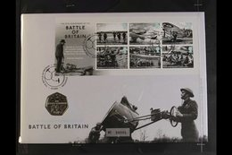 WORLD WAR TWO  1995-2015 Great Britain Limited Edition COIN COVERS, Incl. 1995 VE Day 50th Anniversary Set With £2 Coin, - Stamps