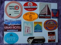LOT N° 10 DE 12 ETIQUETTES D'HÔTEL, VOIR SCAN - Etiquettes D'hotels