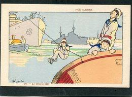 CPA - Illustration Gervèse - NOS MARINS - Le Corps Mort - Guerra