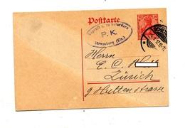 Carte Postale 10 Germinia Cachet Schiltigheim + Controle Censure Strasbourg - Allemagne