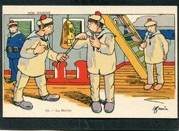 CPA - Illustration Gervèse - NOS MARINS - La Mèche - Guerre