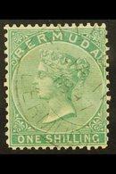 1865-1903  1s Green, CC Wmk, Perf 14 X 12½, SG 11, Fine Cds Used For More Images, Please Visit Http://www.sandafayre.com - Bermuda