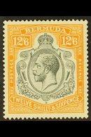 1922-34  12s6d Grey And Orange, SG 93, Very Fine Mint. For More Images, Please Visit Http://www.sandafayre.com/itemdetai - Bermuda