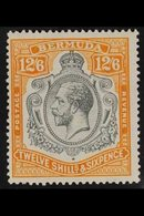 1924  -32  12s 6d Grey And Orange, Wmk Script CA, Geo V, SG 93, Very Fine Mint. For More Images, Please Visit Http://www - Bermuda