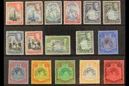"1938  Geo VI Set Complete, Perforated ""Specimen"", SG 110s/121ds, Very Fine Mint, Large Part Og. Rare Set. (16 Stamps) Fo - Bermuda"