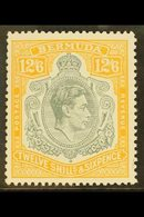 1938-52  12s6d Grey & Pale Orange, Chalky Paper, SG 120e, Very Fine Mint For More Images, Please Visit Http://www.sandaf - Bermuda