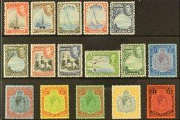 1938-52  KGVI Definitive Set, SG 110/121d, Very Fine Mint (16 Stamps) For More Images, Please Visit Http://www.sandafayr - Bermuda