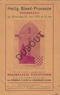 VOORMEZELE/Ieper Heilig Bloed Processie 1955 Met Programma En Veel Reclame (R554) - Vecchi