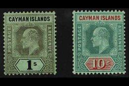 1907  1s And 10s Wmk Crown CA, Ed VII, SG 33/4, Fine Mint. For More Images, Please Visit Http://www.sandafayre.com/itemd - Cayman Islands