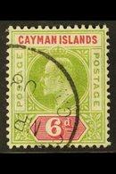 1907  6d Olive & Rose, SG 14, Fine Cds Used For More Images, Please Visit Http://www.sandafayre.com/itemdetails.aspx?s=6 - Cayman Islands