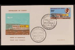 1963  1963 100f Air Mairie De Brazzaville (Yvert 11, SG 27), Superb Cds Used On Illustrated Unaddressed First Day Cover, - Congo - Brazzaville