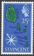 St Vincent. 1965-67 Definitives. 25c MH. SG 241 - St.Vincent (...-1979)