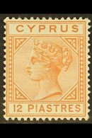 1892-94  12pi Orange Brown, Die II, SG 37, Very Fine Mint. For More Images, Please Visit Http://www.sandafayre.com/itemd - Cyprus