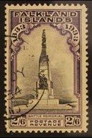 1933  Centenary 2s6d Black And Violet, SG 135, Very Fine Used. For More Images, Please Visit Http://www.sandafayre.com/i - Falkland Islands