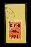 "TELSIAI (TELSCHEN)  1941 5k Scarlet ""Laisvi Telsiai"" Local Overprint Type III With INVERTED OVERPRINT Variety, Michel 1  - Germany"