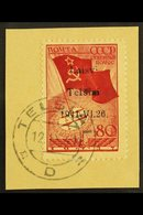 """TELSIAI (TELSCHEN)  1941 80k Bright Scarlet & Carmine-red North Pole Flight With """"Laisvi Telsiai"""" Local Overprint Type I - Germany"""
