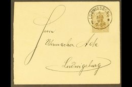 """1902 FIRST DAY COVER WITH PLATE FLAW.  (1 Apr) Locally Addressed Cover Bearing 3pf Brown """"DFUTSCHES"""" FOR """"DEUTSCHES"""" Var - Germany"""