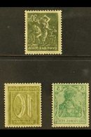 1915-1922 OFFSETS  An Interesting Group Of Three Stamps With Superb Complete OFFSETS Of The Design On Reverse, Includes  - Germany