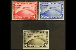 1931 ZEPPELIN  POLAR FLIGHT Set, SG 469/71, Mi 456/8, NEVER HINGED MINT In Lovely Fresh Condition, The 4M With A Tiny Ma - Germany