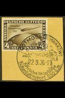 1933  4m Sepia Air Graf Zeppelin Chicago Flight Overprint (Michel 498, SG 512), Superb Used On Piece, Very Fresh. For Mo - Germany