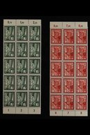 1941  Postal Employees' Fund Complete Set (Michel 773/78, SG 761/66), Never Hinged Mint Marginal BLOCKS Of 15 (5x3), Ver - Germany