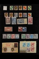 1945-1949 VERY FINE USED COLLECTION  On Stock Pages, Includes FRENCH ZONE General Issues 1945-46 Set Incl 2m (x2, One On - Germany