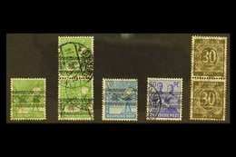 BIZONE  1948 INVERTED OVERPRINTS Very Fine Used Group, Includes 10pf Single & Pair Michel 39 I, 20pf Michel 43 I, 50pf M - Germany