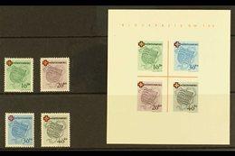 FRENCH ZONE  WURTTEMBERG 1949 Red Cross Complete Set & Mini-sheet Type I (Michel 40/43 & Block 1 I/I, SG FW40/43 & MSFW4 - Germany