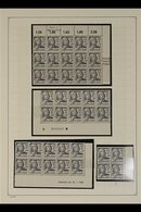 FRENCH ZONE  WURTTEMBERG 1947-48 Definitives Collection Of Never Hinged Mint Large Blocks & Complete Sheets In Hingeless - Germany