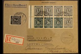 GENERAL ISSUES  1948 (2 June) Registered Re-directed Cover Addressed To Switzerland, Bearing 1946 Numerals Complete Book - Germany