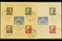 RUSSIAN ZONE  THURINGIA 1946 Theatre Imperf (type VI) And Rouletted (type II) Mini-sheets (Michel Blocks 3 A+B, SG MSRF1 - Germany