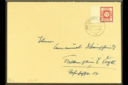 RUSSIAN ZONE  EAST SAXONY 1945 (23 June) Cover Bearing 12pf Red (Mi BI, SG RE1) Left Marginal Example, Tied By Dresden C - Germany