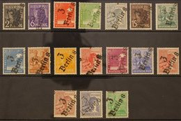 """RUSSIAN ZONE  GENERAL ISSUES 1948 Workers Complete Set Incl Both 60pf Values All With """"3 / Berlin 8"""" Local District Hand - Germany"""