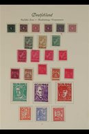 RUSSIAN ZONE  MECKLENBURG-VORPOMMERN 1945-1946 VERY FINE MINT Collection On Album Pages. With 1st Definitive Set Plus So - Germany