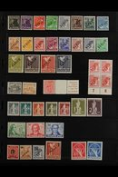 1949-1956 ATTRACTIVE NEVER HINGED MINT COLLECTION  On Stock Pages, Includes 1949 Opts In Black Set (all Expertized Schle - [5] Berlin