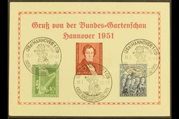 1950  Philharmonic Complete Set And 1951 20pf Lortzing (Michel 72/74) Superb Used On Special 1951 Hanover Garden Show Po - [5] Berlin