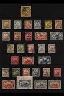 """KIAUTSCHOU  1898-1919 FINE USED COLLECTION Presented On A Stock Page That Includes 1898 3pf Brown Opt'd """"China"""" Tied To  - Germany"""