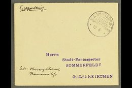 """SOUTH WEST AFRICA  1907 (12 Jun) Stampless Feldpost Cover To Germany With Fine """"RAMANSDRIFT"""" Cds Postmark (without Year  - Germany"""