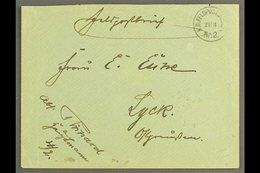 """SOUTH WEST AFRICA  1905 (21 Mar) Stampless Feldpost Cover To Germany Showing Fine """"K.D. FELDPOSTSTATION / Nr. 2"""" At Top  - Germany"""