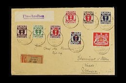 """1922  (29 JUN) REGISTERED COVER To Switzerland, Franked 1922 9m Large Arms (Mi 99), 1922 """"8"""" On 4m (Mi 102), Plus 1922 S - Danzig"""