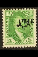 1932  3f On ½a Green SURCHARGE INVERTED Variety, SG 107b, Never Hinged Mint, Very Fresh. For More Images, Please Visit H - Iraq
