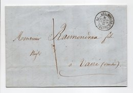 - Lettre LES SABLES-D'OLONNE Pour VAIRÉ (Vendée) 18 MARS 1852 - Taxe Manuscrite 1 Décime - - 1849-1876: Période Classique