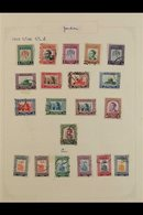 """1953-1959 USED COLLECTION  A Useful """"Old Time"""" Collection Of The Period With Top Values, Complete Sets, A Coronation FDC - Jordan"""