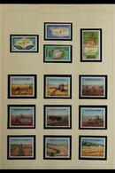 1972-1979 COMPREHENSIVE SUPERB NEVER HINGED MINT COLLECTION  In Hingeless Mounts On Leaves, All Different Complete Sets, - Jordan
