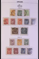 1921-38 SEMI-SPECIALIZED USED COLLECTION  With Many Complete Sets, Different Watermarks & Imperfs, Neatly Presented In A - Latvia