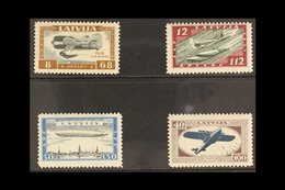 """1933  Air Charity """"Wounded Latvian Airmen Fund"""" Perforated Set, SG 243A/46A, Mi 228A/31A, Fine Mint (4 Stamps) For More  - Latvia"""