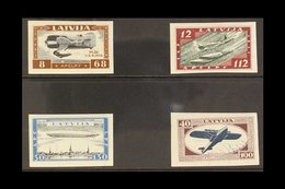 """1933  Air Charity """"Wounded Latvian Airmen Fund"""" Imperforate Set, SG 243B/46B, Mi 228B/31B, Fine Mint (4 Stamps) For More - Latvia"""